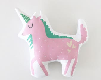 Unicorn, Unicorn Pillow, Valentines, Gift, Unicorn Decor, Baby Gift, Pink Unicorn, Rosie, Pink Pillow, Pink Cushion, Unicorn Cushion