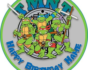 EDIBLE TMNT Birthday cake Topper