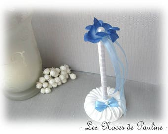 Guestbook pen, blue and white flower wedding set
