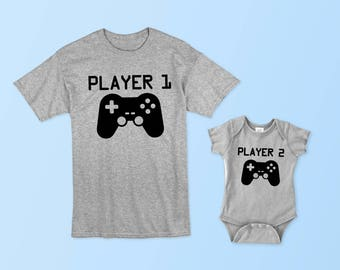 Player 1 - Player 2 - Matching Set (Adult & Baby/Toddler)