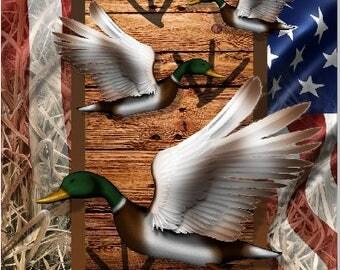 American Duck Hunting Flag Camo Cornhole Wrap Bag Toss Decal Baggo Skin Sticker Wraps