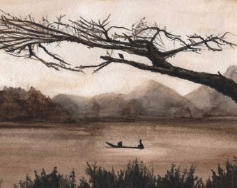 Asian painting NO.2 , Landscape painting