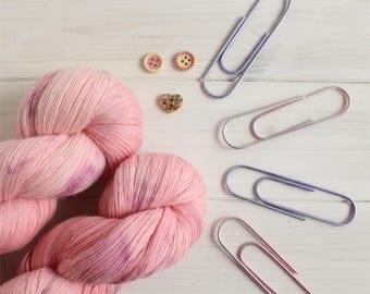 Cheshire Cow - Alice in Wonderland themed hand dyed yarn - lace weight yarn - 100g skein - 100% merino wool