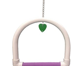 FeatherSmart Parrot Bird PVC Swings-Small