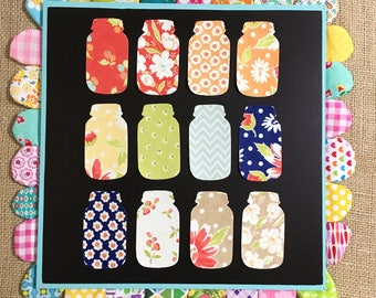 Coney Island Fabric Washi Sticker Mason Jars // Fabric Washi