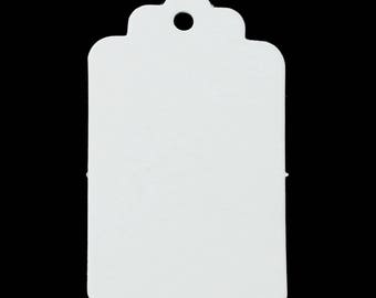 50 labels gift white cardboard/paper 5cm