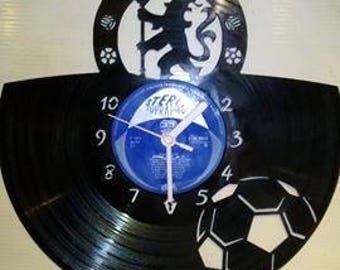 Chelsea F.C Vinyl Record Clock