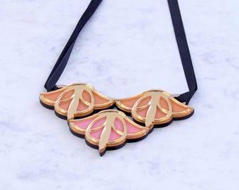 Bloom Maxi Necklace Acrilyc Art Deco