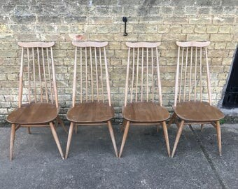 Four Beautiful Ercol Goldsmith Dining Chairs
