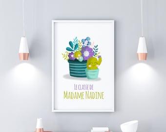 "Classroom poster ""Cactus"" for teachers and teacher (s)"