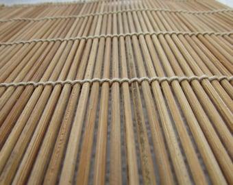 Vintage Japanese Bamboo Mat /  Make Your Own Sushi