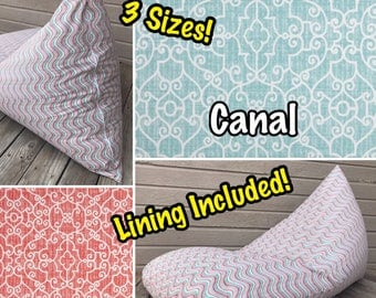 Outdoor Bean Bag Chair or Lounger - Choose Your Pattern!