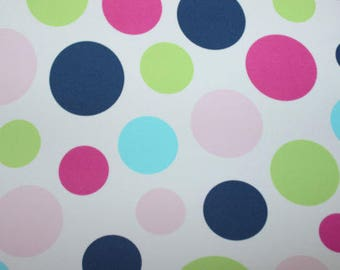 Multi- Color Polka-dot Lycra/Spandex 4 way stretch Matt Finish Fabric