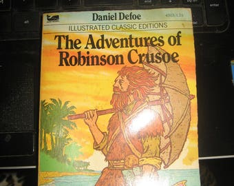 The Adventures of Robinson Crusoe Illustrated Classic Edition Small Paperback 1977