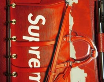 Handmade, Laminated, Louis Vuitton Supreme X, Dimensional Full Size Dashboard to fit your Agendas/Planners/Organizers