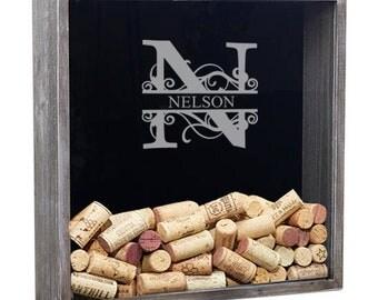 Wine Cork Holder, Wine Cork Shadow Box, Wine Shadow Box, Wine Lover Gift, Wine Gift, Bridal Shower Gift