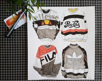 SALE / Retro Sweaters / ORIGINAL Illustration