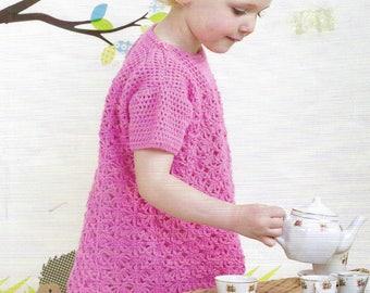PDF Instant Digital Download baby girl dress crochet pattern 22/26 inch (501)
