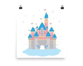 Sleeping Beauty's Castle Print