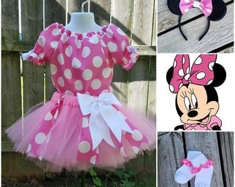 Minnie Mouse Inspired Costume, Minnie Mouse Halloween, Minnie Mouse Birthday, Minnie Meet & Greet, Pink Minnie Costume