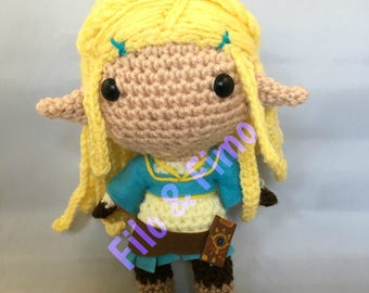 Princess Zelda - Breath of the Wild - Chibi Doll Amigurumi