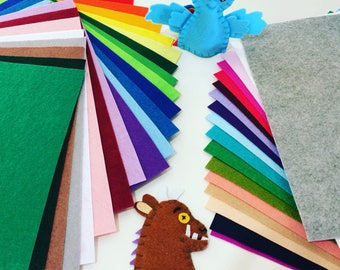 Custom felt puppet sets: made to order. Large set (up to 10 felt finger puppets)
