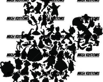Disney Svg/ Mickey Mouse svg/ Minnie Mouse svg/ Rose Svg/ Disney Beauty and the Beast Svg/ Cricut files svg/ silhouette files svg