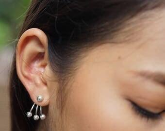 Ear Jacket, Sterling Silver Ear Jacket, Trendy Ear Accessories, Bohemian Jewelry, Bridal Earrings, Funky Ear Jacket, Gift Earrings, (E66)