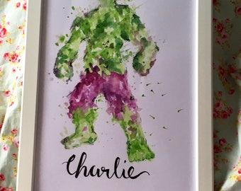 The Hulk name art!