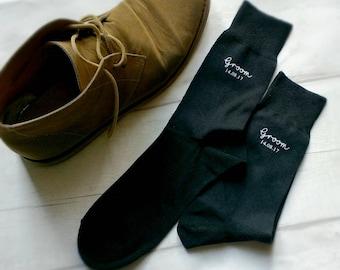 Handmade Wedding Day socks, Groom socks, Wedding , custom groom socks