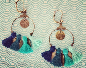 "Earrings with PomPoms ""Frida"""