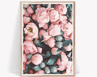 Peony Print,Peony,Wall Art,Pink Peony,Print,Flower Print,Rose Print,Pink Peonies,Peonies,Wall Decor,Pink Flower,Pastel,Peony Art,Plant Print