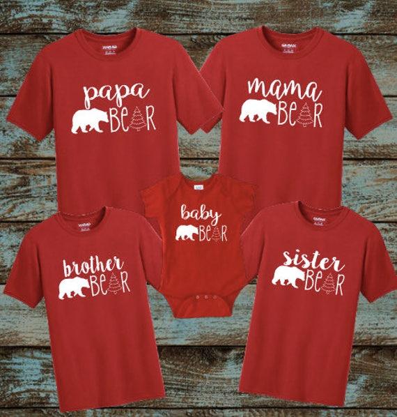 Christmas Tree Family Pajamas Christmas Pajamas Mama Bear