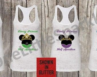 Disney Princess half   // disney princess // running disney // run disney half marathon full princess / minnie princess run disney tank