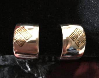 35% OFF SALE Gorgeous 80s Vintage Givenchy Clip On Earrings