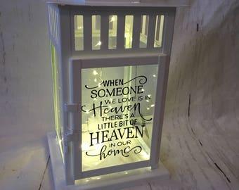 Beautiful Light up Memorial Lantern
