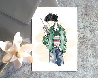 Carte Postale-Mike-Stranger Things