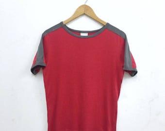 SUMMER SALES Dries Van Noten Red Plain Ringer Short Sleeve Shirt Small Size Famous Fashion Designer Dries Van Noten Thom Browne Alexander Mc