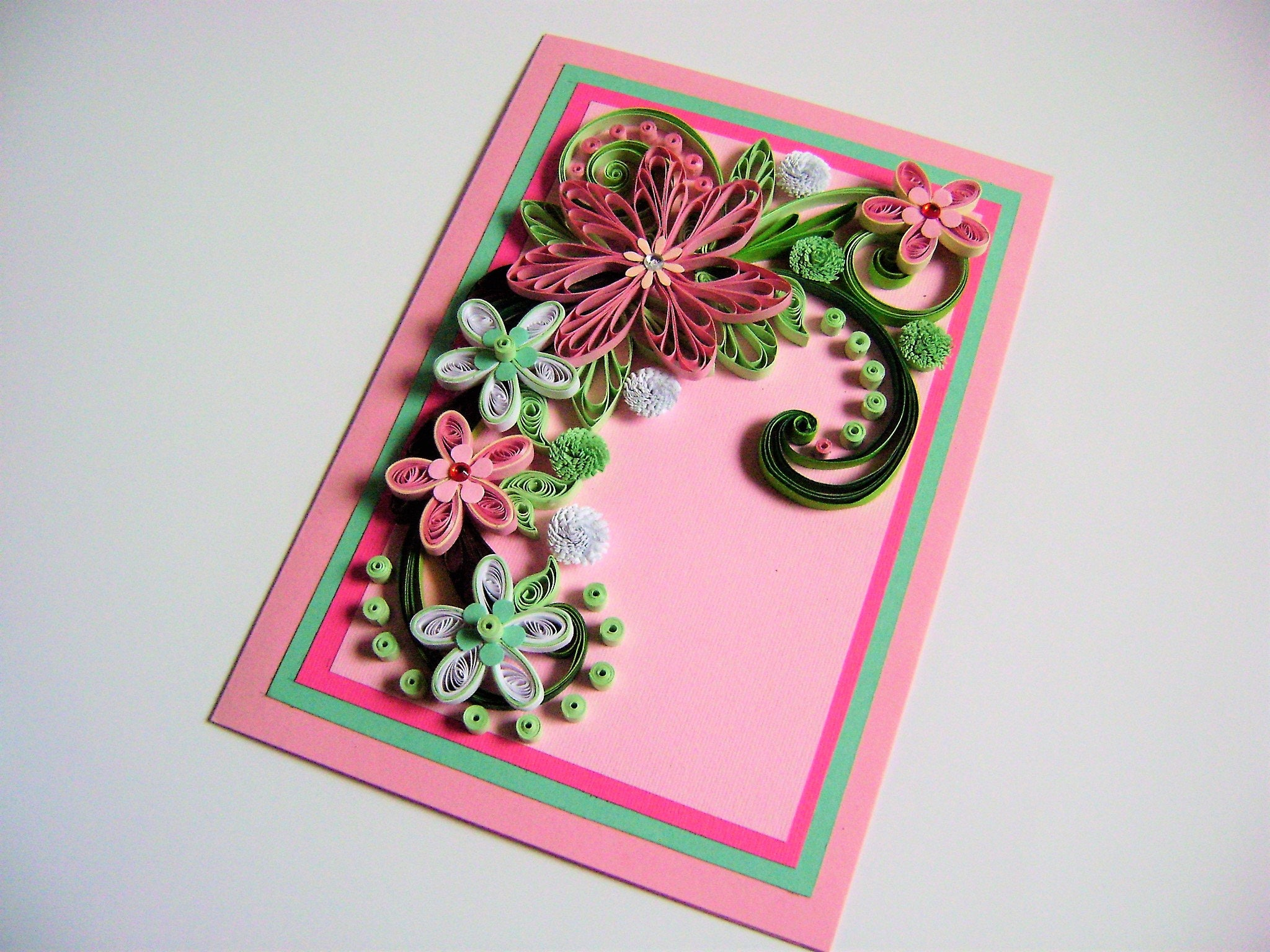 Flower wedding cardwedding invitation cardquilling greeting card flower wedding cardwedding invitation cardquilling greeting cardanniversary cardquilled stopboris Choice Image