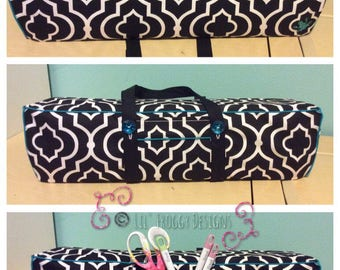 NEW!Cricut Maker and Cricut Explore/ Air/ Air2/ One Convertible Dust Cover/ Tote Bag Custom Handmade Black and White with Teal Piping