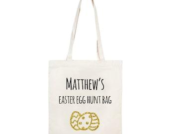 Personalised bag etsy uk easter gifts personalised easter bag personalised bag easter egg hunt bag personalised negle Choice Image