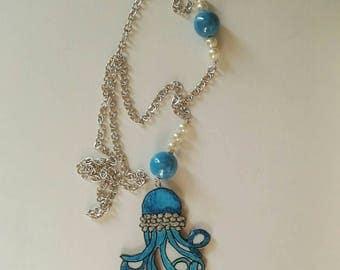 Octopus sea line necklace