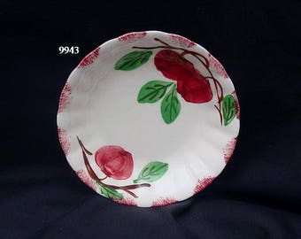 "Blue Ridge Pottery AUTUMN APPLE 5.25"" Bowl Dessert Fruit Southern Potteries Colonial Dinnerware HandPainted Red Apples (B33) 9943"