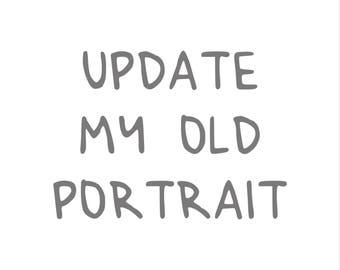 Tweak An Old Illustration (Change Hair Color, Last Name, Etc.)