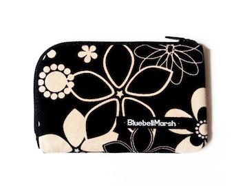 Midnight flower coin purse