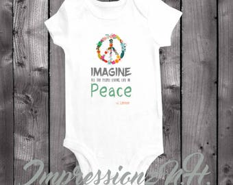 Peace - peace baby onesie , band onesie, band baby shirt - band baby bodysuit,  one-piece shirt