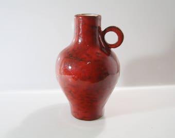 Impressive vase bei Rhein Ruhr Keramik, RRK West German Pottery Mid Century Fat Lava