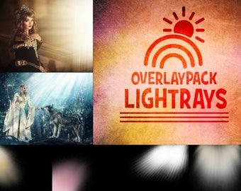 Lightrays - 35 Lichtstrahlen Overlays