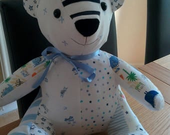 Keepsake memory bear made from baby or loved ones clothes