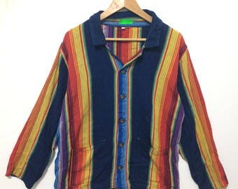 Long Sleeve MultiColor Shirt Button MAde In Guatemala